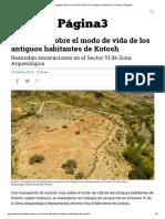 Investigan Sobre El Modo de Vida de Los Antiguos Habitantes de Kotosh _ Página3