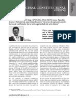 Comentarios a La STC Exp. 05496 Caso Agustín Llantoy Palomino