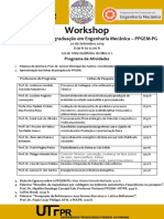 Convite - Workshop PPGEM Semana Academica