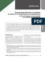El Precedente Elgo Ríos o La Historia de Cómo Un TC Deconstruye Sus Competencias