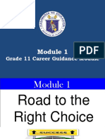 Module 1 the Road to the Right Choice