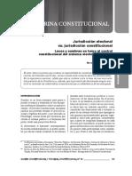 Jurisdicción Electoral vs. Jurisdicción Constitucional