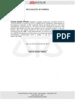 Declaração de Pobreza - Manoel Mendes Ferreira