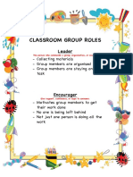 classroom group roles