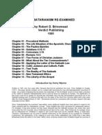 Sabbatarianism Re-Examined - Robert D. Brinsmead