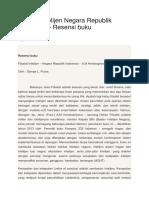 Filsafat Intelijen Negara Republik Indonesia