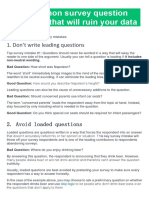 5 Common Survey Question Mistakes