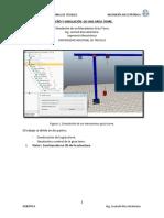Simulacion de un mecanismo Grua Torre en VREP