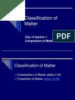 C15-Classification of Matter