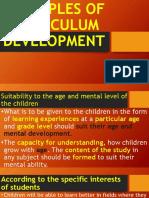 Principles of Curriculum Development