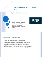 Lecture 4 Characterization of Geotextiles