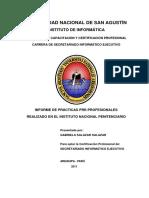 Informe de prácticas preprofesionales