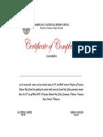 Certificate of Comp. Final