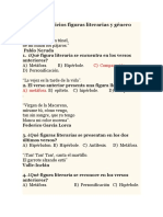 Guía de Ejercicios Figuras Literarias y Género Lírico