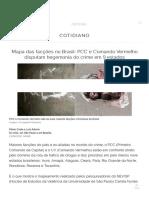 facções criminosas no brasil