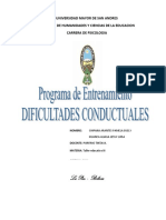 DIFICULTADES CONDUCTUALES