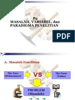 P2 Masalah. Variabel Penelitian