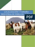 localizacion de planta de fibra de alpaca