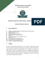 Silabo de Teoria del Estado - Maestría Constitucional y DD.HH. - 2016