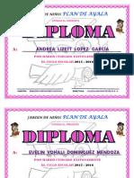 Diplomas Niñas Rosas