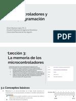 MEMORIA DE LOS MICROCONTROLADORES