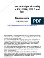 Air  Q Software to Analyse Air Quality Information  Gaxcesensors