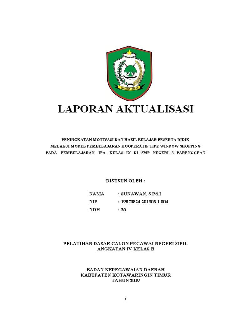 Laporan Aktualisasi Sunawan Latsar Cpns 2019