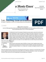 Law Enriching Asean Environmental Governance the Manila Times Online