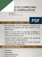 01 Logic Formulation