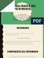 Generalidades del patrimonio