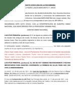 Libretoacto Civico Dia Del Peru y Bolivia