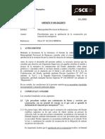 Opinión OSCE 095-12-2012 - Exoneración en Situaciones de Emergencia
