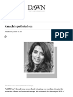 Karachi's Polluted Sea - Newspaper - DAWN.com