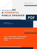 Becoming A Powerful Public Speaker