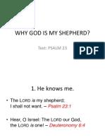 Why God is My Shepherd