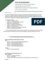 Summary Civil Technical Electives 2019 20