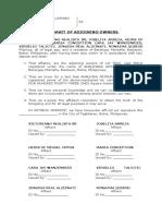 Affidavit of Adjoining Owners