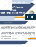 Manajemen Pelayanan OWA