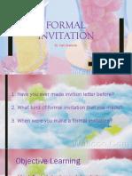 5. Formal Invitation