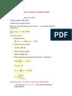 sistema de equilibrio químico