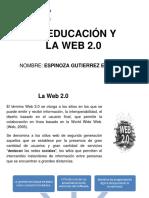 LA EDUCACIÓN Y  LA WEB 2.0.ppt