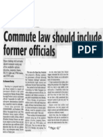 Daily Tribune, Oct. 14, 2019, Commute law should include former officials.pdf