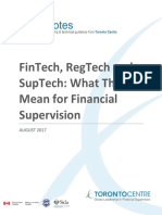FinTech RegTech and SupTech - What They Mean for Financial Supervision FINAL