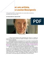 Como ser um artista - Louise Bourgeois
