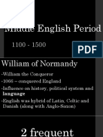 Middle English Period Language