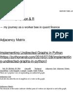 Adjacency Matrix | Discovering Python & R