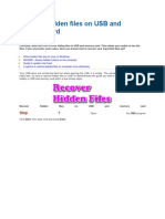 Recover Hidden Files on USB and Memory Card