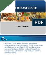 Fitofarmasetik Sertifikasi Cpotb Dewieko