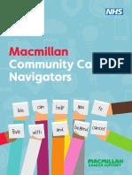 Community Cancer Navigator Leaflet