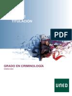 Guía Criminología UNED